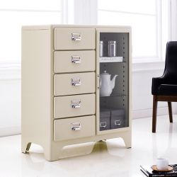 16-001-Ivory  Metal Cabinet