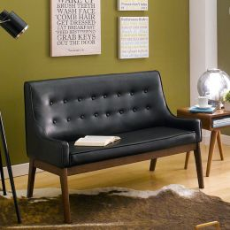 Nima-Black  2-Seater Sofa