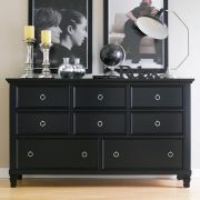 Tamarack-Black  Drawer Dresser