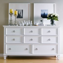 Tamarack-White  Drawer Dresser