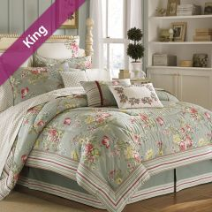 Eloise  King Comforter ~100% Cotton~ (솜이불+베개커버 2개)(Size: 213 cm x 230 cm)