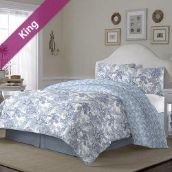 Ellison  King Comforter ~100% Cotton~ (솜이불+베개커버 2개)(Size: 213 cm x 230 cm)