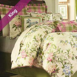 Garden Path  King Comforter ~100% Cotton~ (솜이불+베개커버 2개)(Size: 213 cm x 230 cm)