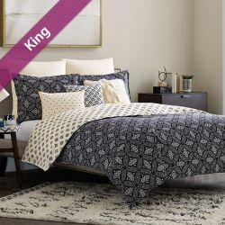 Luna  King Comforter ~100% Cotton~ (솜이불+베개커버 2개)(Size: 213 cm x 230 cm)
