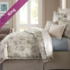 Villa Marcella  King Comforter ~100% Cotton~ (솜이불+베개커버 2개) (Size: 213 cm x 230 cm)