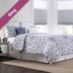 RS Lisbon  King Comforter ~100% Cotton~ (솜이불+베개커버 2개)(Size: 213 cm x 230 cm)