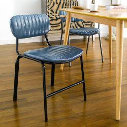 Veronica-Blue  Metal Chair