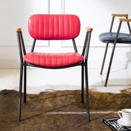 Miranda-Red  Metal Chair