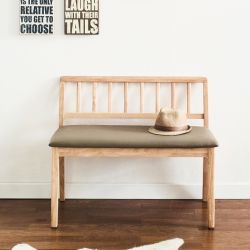 Miso-Natural-Short  Wooden Bench