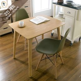 Sarah-Mustard-2  Dining Set (1 Table + 2 Chairs)