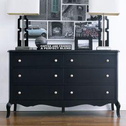 B2185-22-Black  Drawer Dresser