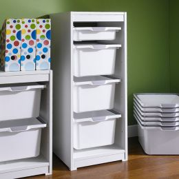 Kreo-WHT-WHT-4  Storage Box