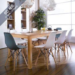 Ocean-N8B-W6  Dining Set  (1 Table + 6 Chairs)