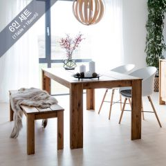Vejers-6  Dining Set  (1 Table + 1 Bench)