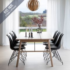 Carver-6C-Oak  Dining Set