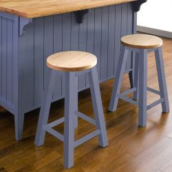 Roommate-Blue-ST   Wooden Stool