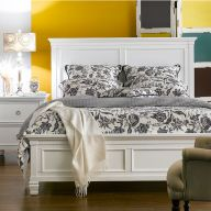 Tamarack-White  Queen Panel Bed