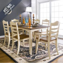 D2806-6  Dining Set  (1 Table + 2 Arm + 4 Side)