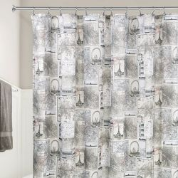 58020ES  Paris Shower Curtain  (Size: 183cm x 183cm)