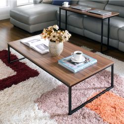 T-1200-Walnut  Coffee Table
