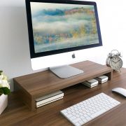 MS-100-Walnut  Monitor Stand