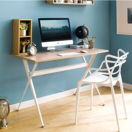 Xwork-Oak  Metal Desk