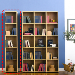 WB-400-Oak  1-Unit Bookcase