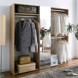 WC-500M  3-Unit Closet w/ Mirror