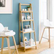 NH6832B-White  4-Shelf Rack