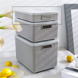 HH-SML-GY  Storage Box  (뚜껑포함)