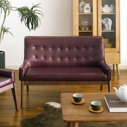 Nima-Wine  2-Seater Sofa