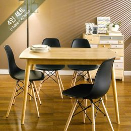 Sarah-Black-4  Dining Set (1 Table + 4 Chairs)