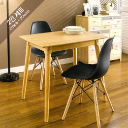 Sarah-Black-2  Dining Set (1 Table + 2 Chairs)