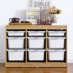 Kreo-OAK-WHT-9  Storage Box