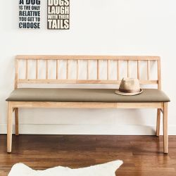 Miso-Natural-Long  Wooden Bench