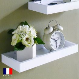 Savannah-White Wall Shelf   (1 Pc)