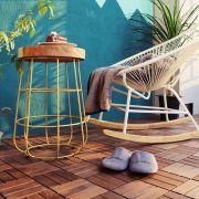 Dandy-Walnut-6P  Solid-Wood Floor Tiles   (0.16 평)