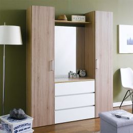 SRD-Oak-Mirror  2-Door w/ Mirror