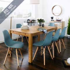 Turbo-6-6-Blue-BB  Dining Set (6인용) (1 Table + 6 Chairs)