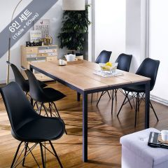 Pacific-6-Black-Liva Dining Set (6인용)