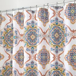 65420ES Henna Medallion Shower Curtain