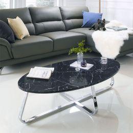 Konzit-Black  Marble-Look Table