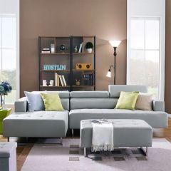 Molly-G  Leather Sofa & Ottoman