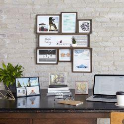 Edge Multi Wall-Aged Walnut Photo Display
