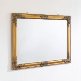Sanne-Rect-Gold Wall Mirror