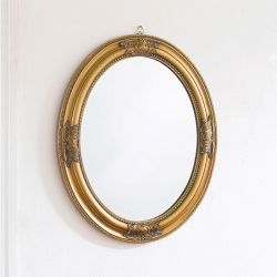 Livia-Gold Oval Wall Mirror