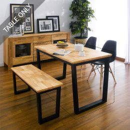 Ziva-Natural-Table  Dining Table (Table Only)~100% 원목탑~