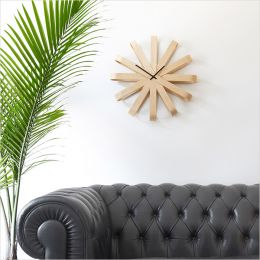 118071-390 Ribbonwood-Natural Wall Clock