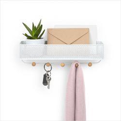 1004245-660 Estique ORG-White Key Hook/Wall Organizer