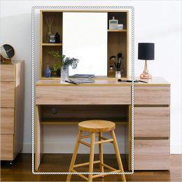 SG-2185-Oak  Vanity & Mirror